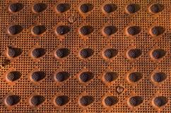 Textured metal kratownica zdjęcie royalty free
