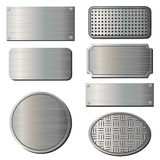 Textured metal plates Stock Photos