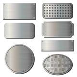 Textured Metal Plates Stock Photos