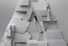Textured Metal Triangle Stock Photo