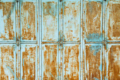 Textured metal wall with stains of rust Royalty Free Stock Images