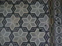 Textured mosaic floor Stock Photo