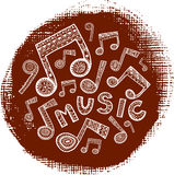 Textured music circle Royalty Free Stock Photo