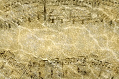 Textured Musical Notes Stock Photo