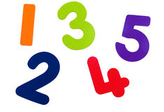 Textured Numbers One to Five Stock Image