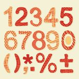 Textured Numbers Set Royalty Free Stock Image