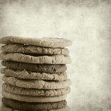 Textured old paper background. With sweet cookies Royalty Free Stock Photos