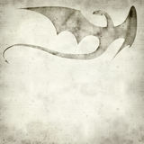 Textured old paper background. With dragon ilustration Royalty Free Stock Photography