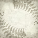 Textured old paper background. With fern illustration Stock Images