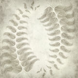 Textured old paper background. With fern illustration Royalty Free Stock Image