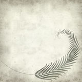 Textured old paper background. With fern leaves illustration Royalty Free Stock Photography