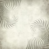 Textured old paper background. With fern leaves illustration Stock Photos