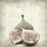 Textured old paper background. With fig fruit Stock Photography