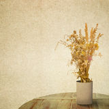 Textured old paper background with flower Stock Photo