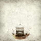 Textured old paper background. With Rooibos tea Royalty Free Stock Photos