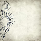 Textured old paper background. With watercolor paint fern leaves Royalty Free Stock Photo