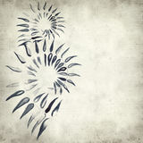 Textured old paper background. With watercolor paint fern leaves Stock Photo