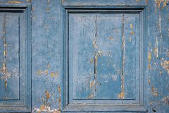 Textured old wooden board of doors or gate Stock Photography