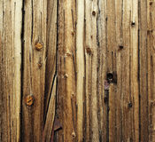 Textured old wooden cladding Stock Photos