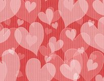 Textured Opaque Hearts Background Royalty Free Stock Photo