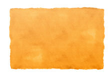 Textured orange paper. A textured blank orange paper with borders cut by hand Stock Photos