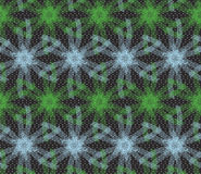 Textured ornament with green and blue linear stars Stock Image