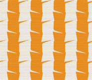 Textured ornament with orange and white vertical stripes Stock Photos