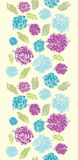 Textured painted flower vertical seamless pattern Royalty Free Stock Image