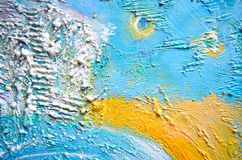 Textured Painting, Abstract Painting.Creative abstract hand painted background. Rough Painting. Fragment of acrylic painting on ca Stock Photography