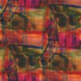 Textured paleta obrazka ornamentu bezszwowa czerwień, zdjęcia royalty free