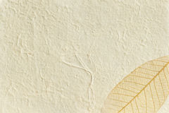 Textured paper gold leaf Stock Images