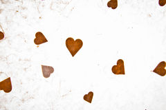 Textured Paper With Heart. Blank for valentines message, copyspace Stock Photo