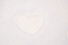 Textured paper with heart Royalty Free Stock Images