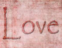 Textured Paper of the Word Love Stock Photo
