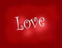 Textured Paper of the Word Love Stock Photography