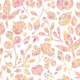 Textured pastel Leaves Seamless Pattern background Royalty Free Stock Image
