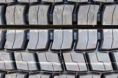Textured pattern of a new truck tire background Royalty Free Stock Photos