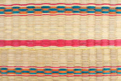 Textured Pattern Of Weaving Colorfu Mat Stock Photography