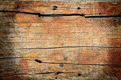 Textured pattern of red broke wooden board Stock Photography