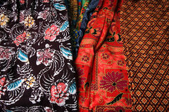 Textured pattern on Thai textile Stock Image