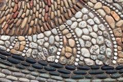 Textured pebble pavement Royalty Free Stock Photos
