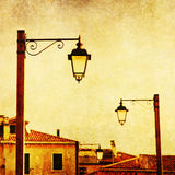 Textured picture of old lanterns in Venice Royalty Free Stock Images
