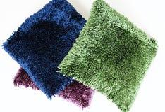 Textured pillows Stock Images