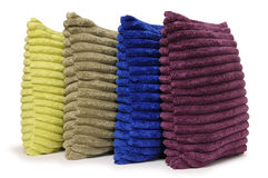 Textured pillows. Isolated royalty free stock photography
