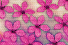 Textured pink flowers Royalty Free Stock Photo
