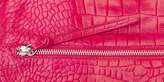 Textured pink leather with zipper Stock Image