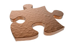 Textured puzzle piece Stock Image