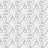 Textured with randomly rotated triangles squares. Monochrome dotted texture. Abstract seamless pattern. Ornament made of dots.Textured with randomly rotated Stock Photo