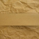 Textured recycled cardboard for cover design. Stock Photo