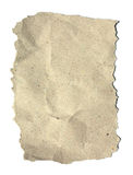 Textured recycled paper on white background Stock Image